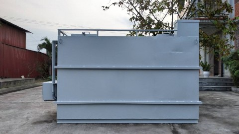 Lắp đặt hệ thống xử lý nước thải quy mô nhỏ tại Công ty TNHH Đầu tư và Thương mại Tấn Tài công suất 8m3/ngày đêm