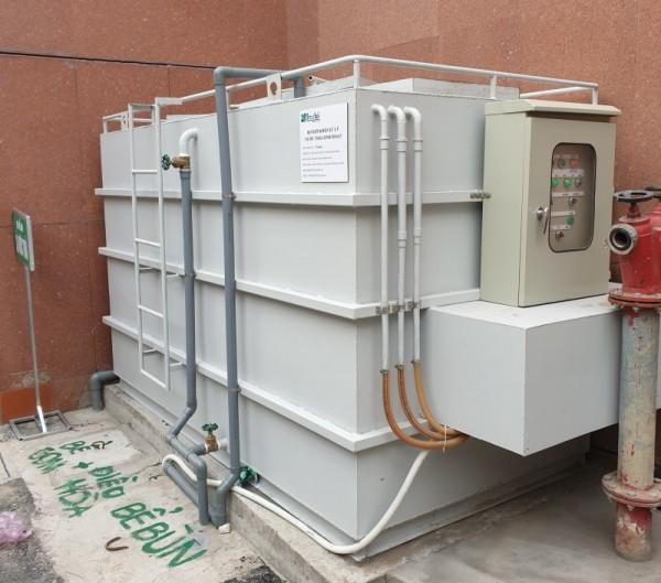 Lắp đặt hệ thống xử lý nước thải sinh hoạt tại tòa nhà Vietcombank chi nhánh Hải Phòng
